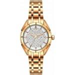 BREEZE Gemstonia Crystals Rose Gold Stainless Steel Bracelet 212181.1