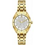 BREEZE Gemstonia Crystals Gold Stainless Steel Bracelet 212181.2