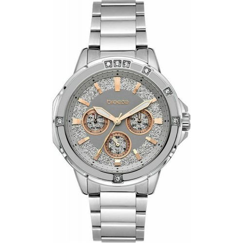 BREEZE Illumina Crystals Silver Stainless Steel Bracelet 612241.7