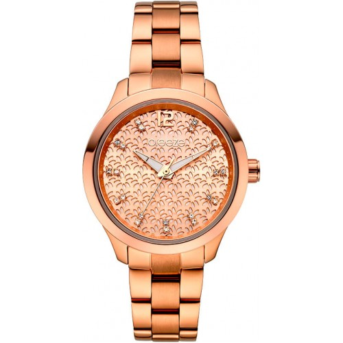 BREEZE Amorelle Crystals Rose Gold Stainless Steel Bracelet 211061.4
