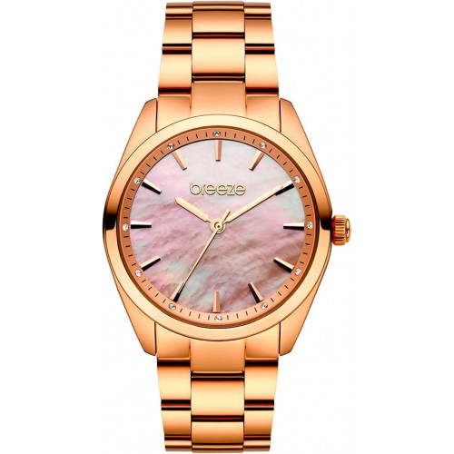 BREEZE Finesse Crystals Rose Gold Stainless Steel Bracelet 212051.4