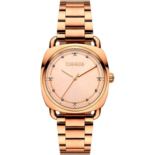 BREEZE Musette Crystals Rose Gold Stainless Steel Bracelet 212071.4