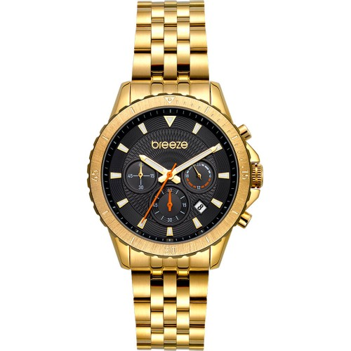 BREEZE Invernia Gold Stainless Steel Chronograph 212131.2
