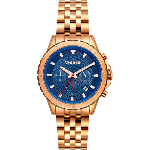 BREEZE Invernia Rose Gold Stainless Steel Chronograph 212131.3