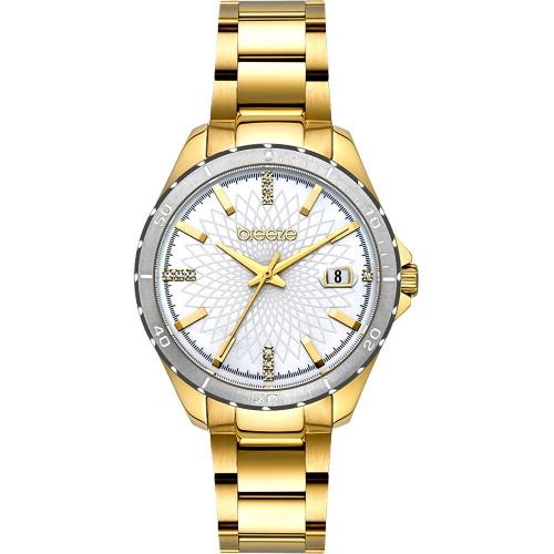 BREEZE MantaRay Gold Stainless Steel Bracelet 212141.2