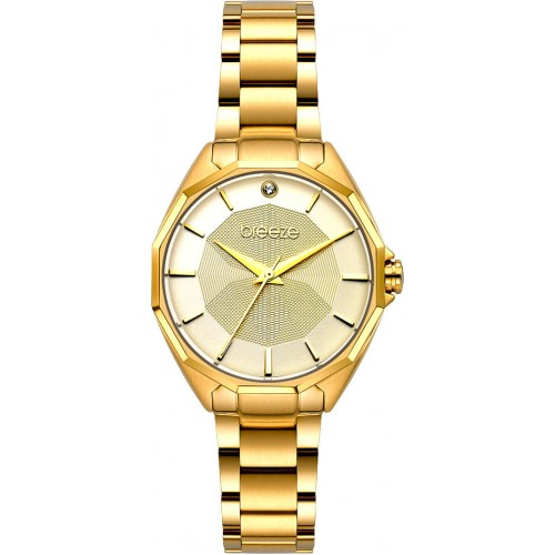BREEZE Hermosa Crystal Gold Stainless Steel Bracelet 212151.2
