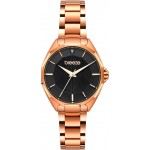 BREEZE Hermosa Crystal Rose Gold Stainless Steel Bracelet 212151.6