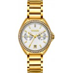 BREEZE Royalisse Crystals Gold Stainless Steel Bracelet 212161.2