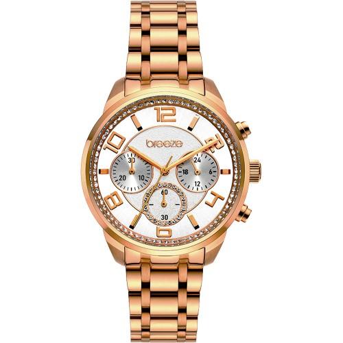 BREEZE Myrina Rose Gold Stainless Steel Chronograph 212211.4