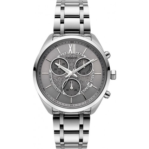 BREEZE Luxade Silver Stainless Steel Chronograph 612061.4