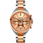 BREEZE Glow Raider Two Tone Stainless Steel Chronograph 712031.4