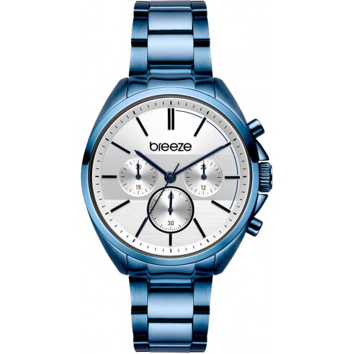 BREEZE Glow Raider Blue Stainless Steel Chronograph 812031.3