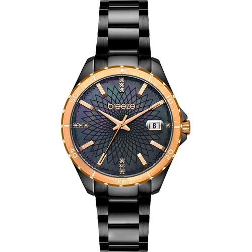 BREEZE MantaRay Black Stainless Steel Bracelet 812141.6