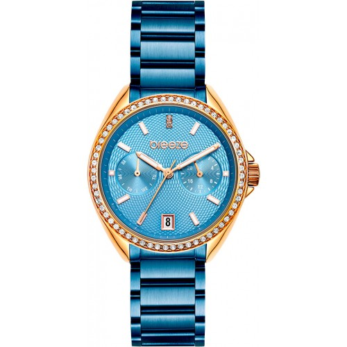 BREEZE Royalisse Crystals Blue Stainless Steel Bracelet 812161.3