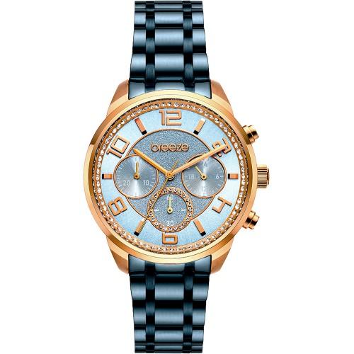 BREEZE Myrina Blue Stainless Steel Chronograph 812211.3