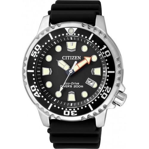 CITIZEN Eco-Drive ρολόι Promaster με μαύρο λουράκι και ημερομηνία BN0150-10E