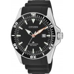 CITIZEN Eco-Drive ρολόι Promaster με μαύρο λουράκι και ημερομηνία BN0100-42E