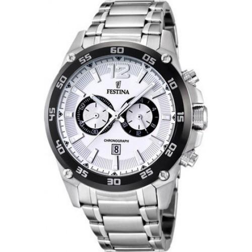 FESTINA Chrono White Dial Stainless Steel Bracelet F16680/1