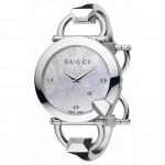 Gucci Chiodo Diamond White Dial Ladies Watch YA122504