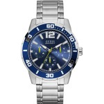 GUESS  Mens Silver Stainless Steel Bracelet W1249G2