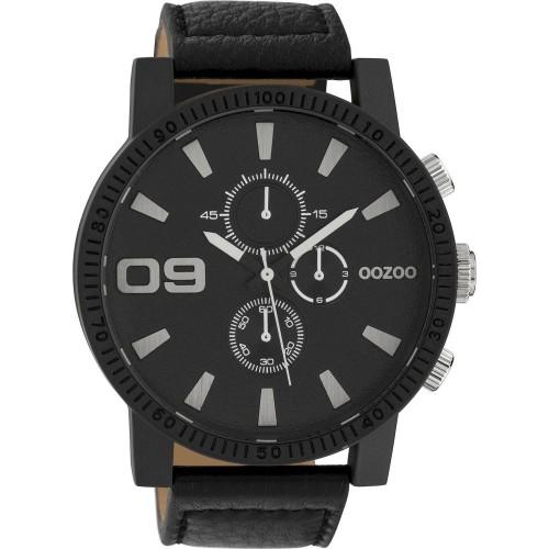 OOZOO timepieces Ρολόι Ανδρικό Μαύρο Δερμάτινο Λουράκι 50mm C10067