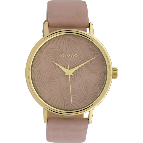 OOZOO TIMEPIECES Unisex 42mm Soft Pink Leather Strap C10081