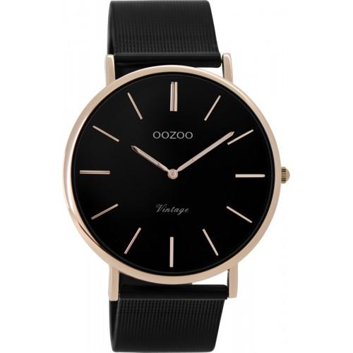 OOZOO 40mm Unisex Black Metallic Bracelet C8869