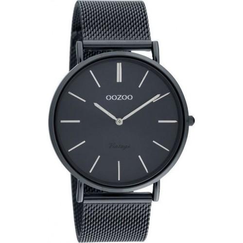 OOZOO Timepieces Vintage Deep Blue Metal Bracelet C20003
