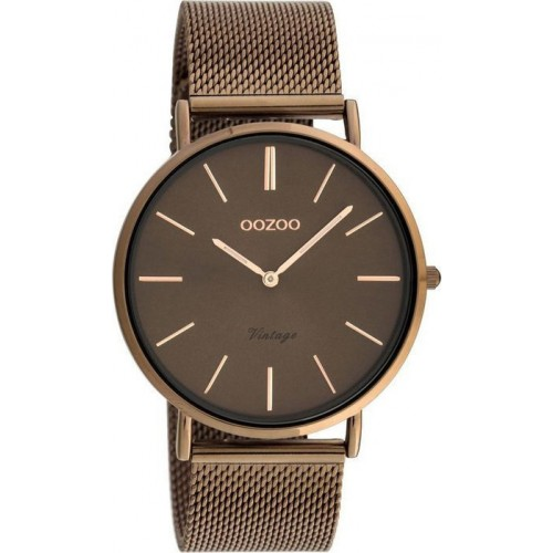 OOZOO 40mm Timepieces Vintage Brown Metal Bracelet C20004
