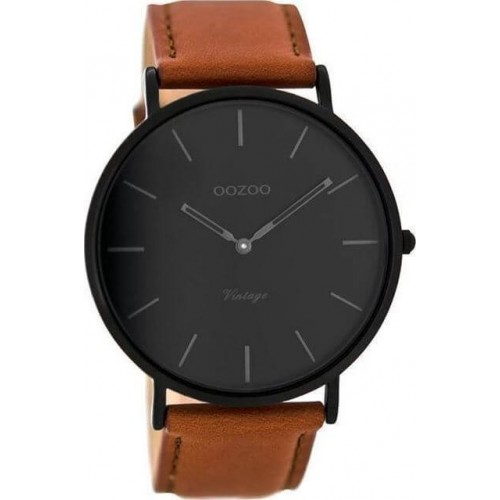 OOZOO TIMEPIECES 44mm Unisex Brown Leather Strap C8126
