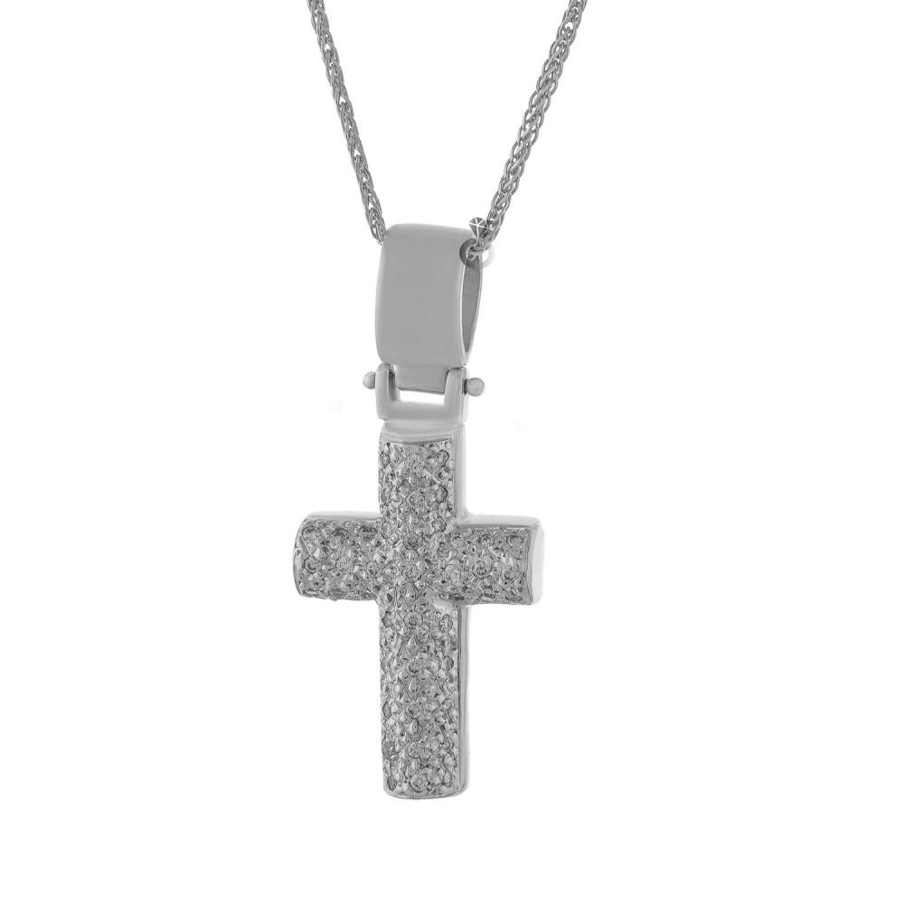 Σταυρός Γυναικείος με Διαμάντια 339da674e17