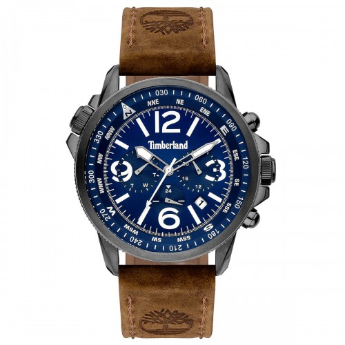 TIMBERLAND Campton II Multifunction Brown Leather Strap 15129JSU-03