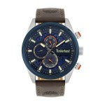 TIMBERLAND Ridgeview Dual Time Multifunction 46mm Two Tone Blue Stainless Steel Leather Strap TBL.15953JSTBL.03