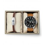 TIMBERLAND SWAMPSCOTT BROWN LEATHER STRAP GIFT SET TBL15941JYTB/02