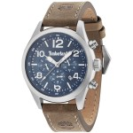 TIMBERLAND Ashmont Dual Time Brown Leather Strap