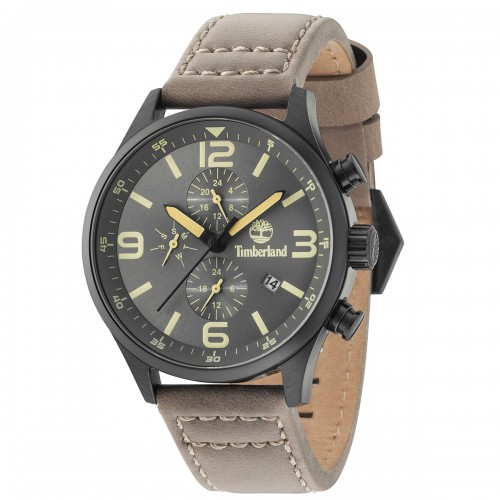 TIMBERLAND Rutherford Dual Time Brown Leather Strap TBL15266JSB79
