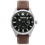 TIMBERLAND Μarmont Silver case with Brown Leather Strap TBL15361JS02