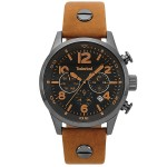TIMBERLAND Jenness Grey case with Brown Leather Strap