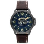 TIMBERLAND Biddeford AUTOMATIC Black case with Brown Leather Strap