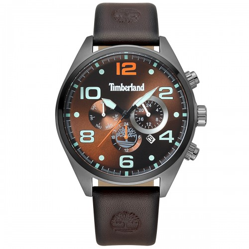 TIMBERLAND Whitman, Grey case with Brown Leather Strap