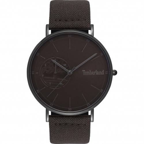 TIMBERLAND Chelmsford , Black case with Brown Leather Strap