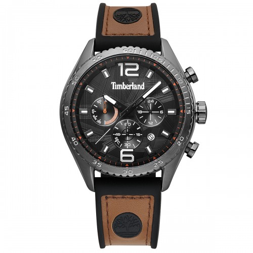 TIMBERLAND Stonington , Grey case with Brown Leather Strap