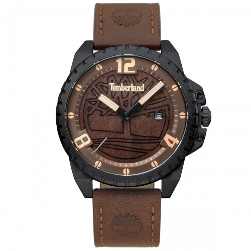 TIMBERLAND Eastford , Black case with Brown Leather Strap TBL15513JSB12