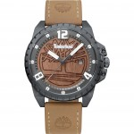 TIMBERLAND Eastford , Grey case with Brown Leather Strap tbl15513jsu53