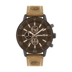 Timberland Woodworth Chronograph Brown Leather Strap TBL15952JYU-02