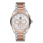 BEVERLY HILLS POLO CLUB Multifunction Two Tone Stainless Steel Bracelet BH2168-04
