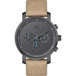 VISETTI Momentum Multifunction Brown Leather Strap PE-634BL