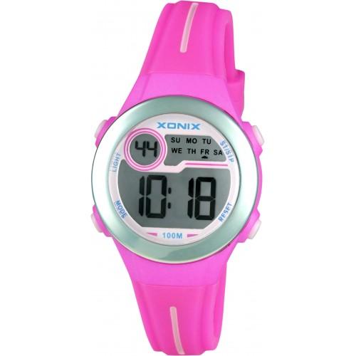 XONIX Ladies Chronograph Pink Silicone Strap IW-003