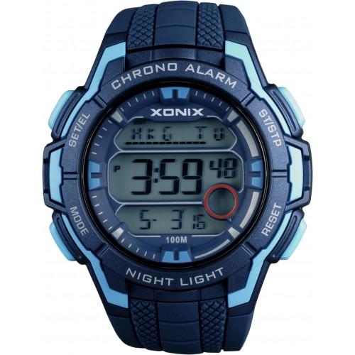 XONIX Digital Blue Rubber Strap NN-003