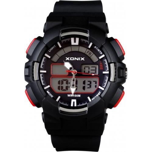 XONIX Chronograph Black Silicone Strap NZ-006